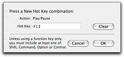 Hot key customization sheet